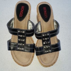 Bongo Cork Wedge Sandals sz 7